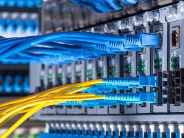 fiber-optic-cables-and-utp-network-cables-picture-id503844546