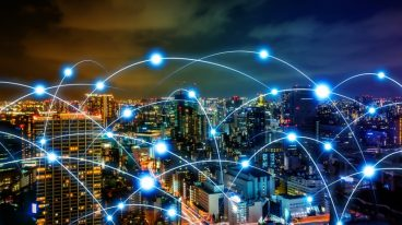 smart-city-and-telecommunication-network-concept-abstract-mixed-media-picture-id861165436