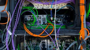 the-control-panel-television-equipment-tv-cable-video-cable-picture-id1021605604